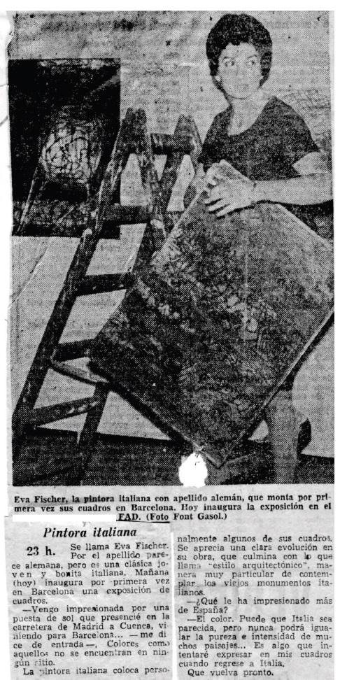 Articolo del 19 ottobre 1961 apparso su El Noticiario Universal